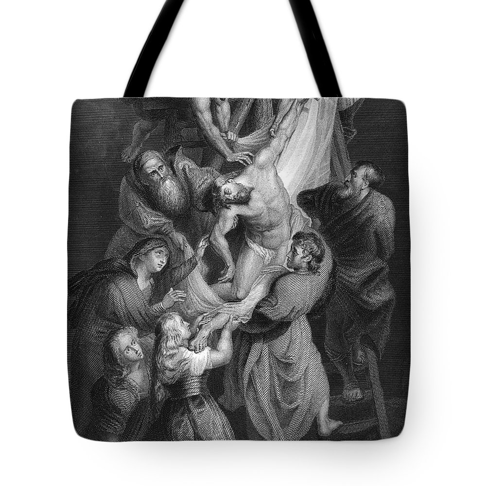 Beard Tote Bag featuring the photograph Jesus: Deposition by Granger