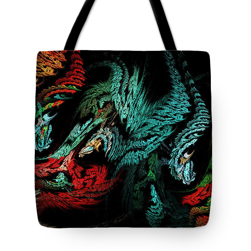 3d Tote Bag featuring the digital art Jewels Of The Night by Andee Design