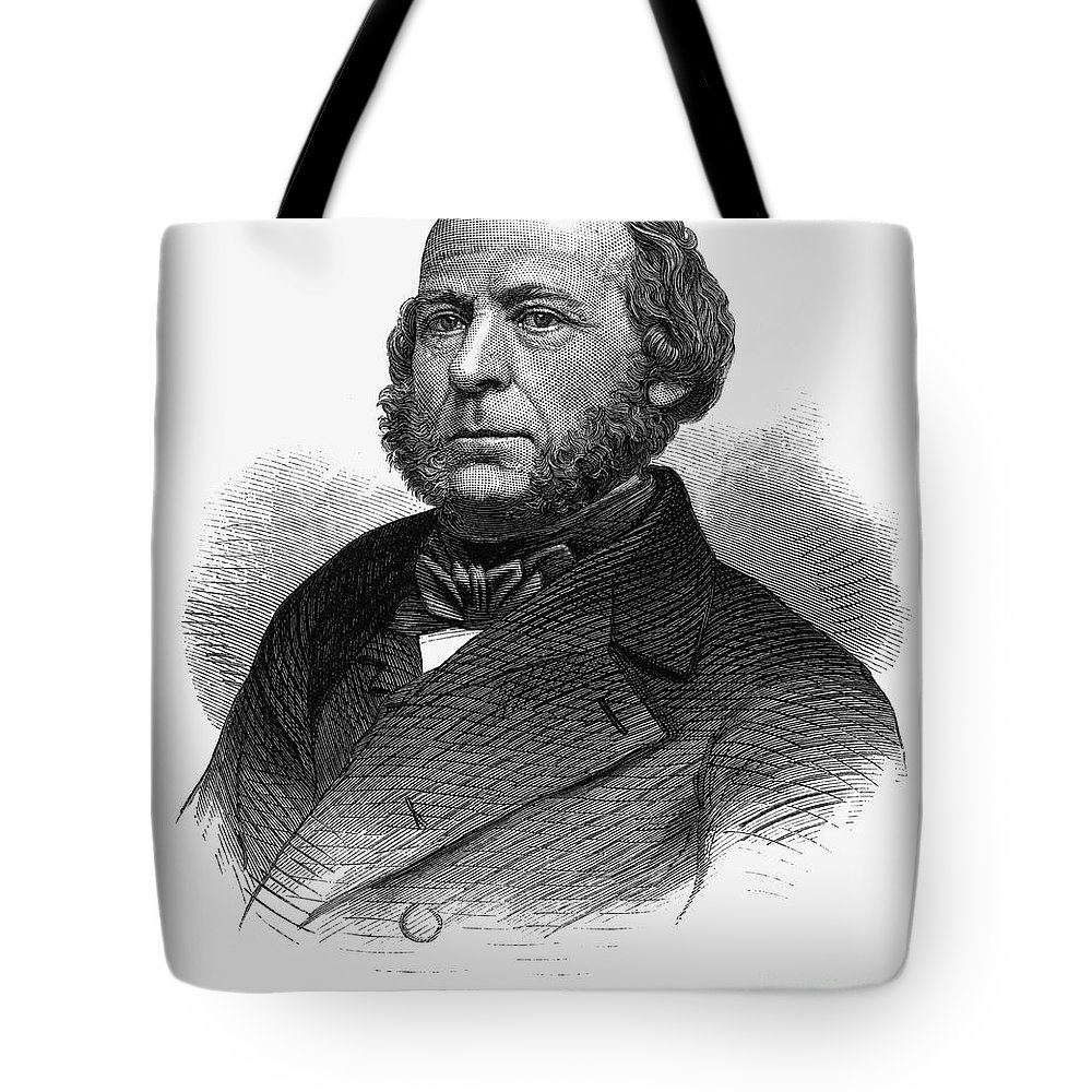 1860s Tote Bag featuring the photograph John Ericsson (1803-1889) by Granger