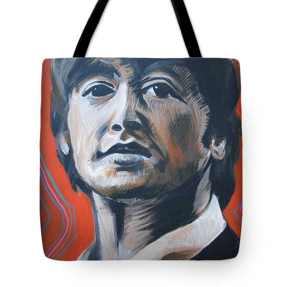 Beatles Tote Bag featuring the painting John Lennon by Kate Fortin