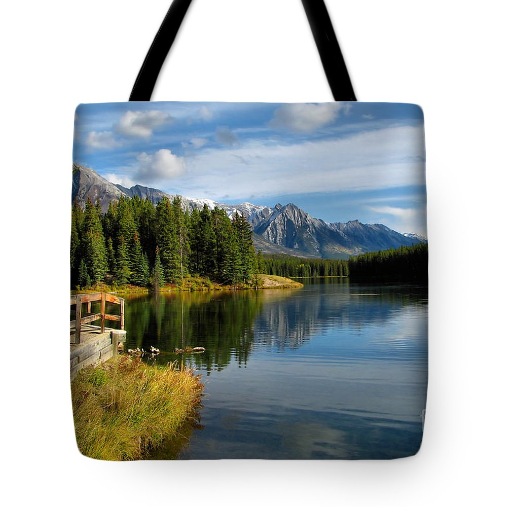 Johnson Lake Tote Bag featuring the photograph Johnson Lake by James Anderson