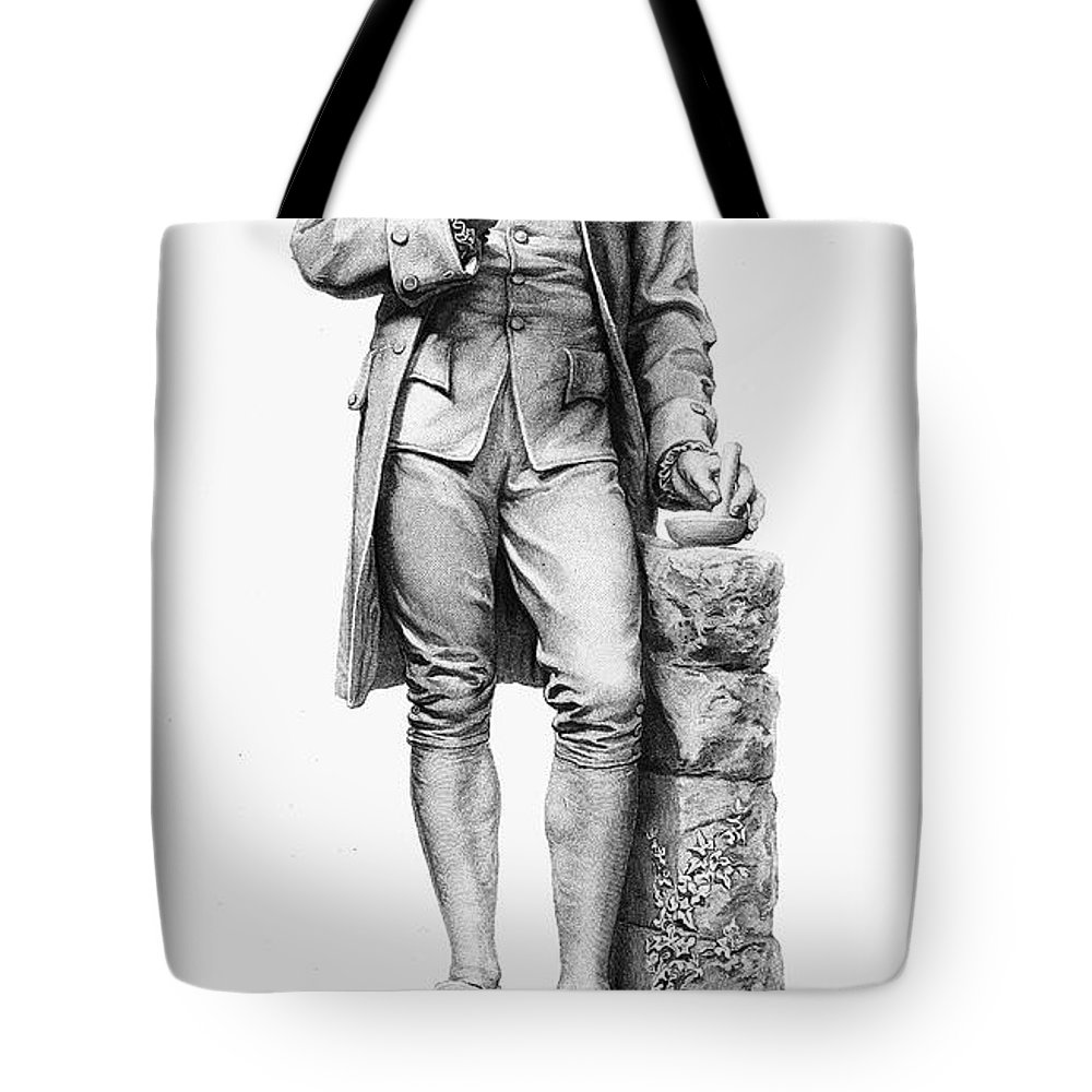 18th Century Tote Bag featuring the photograph Joseph Priestley (1733-1804) by Granger