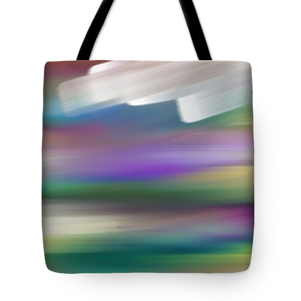 Jour Tote Bag featuring the painting Jour Nuageux by George Pedro