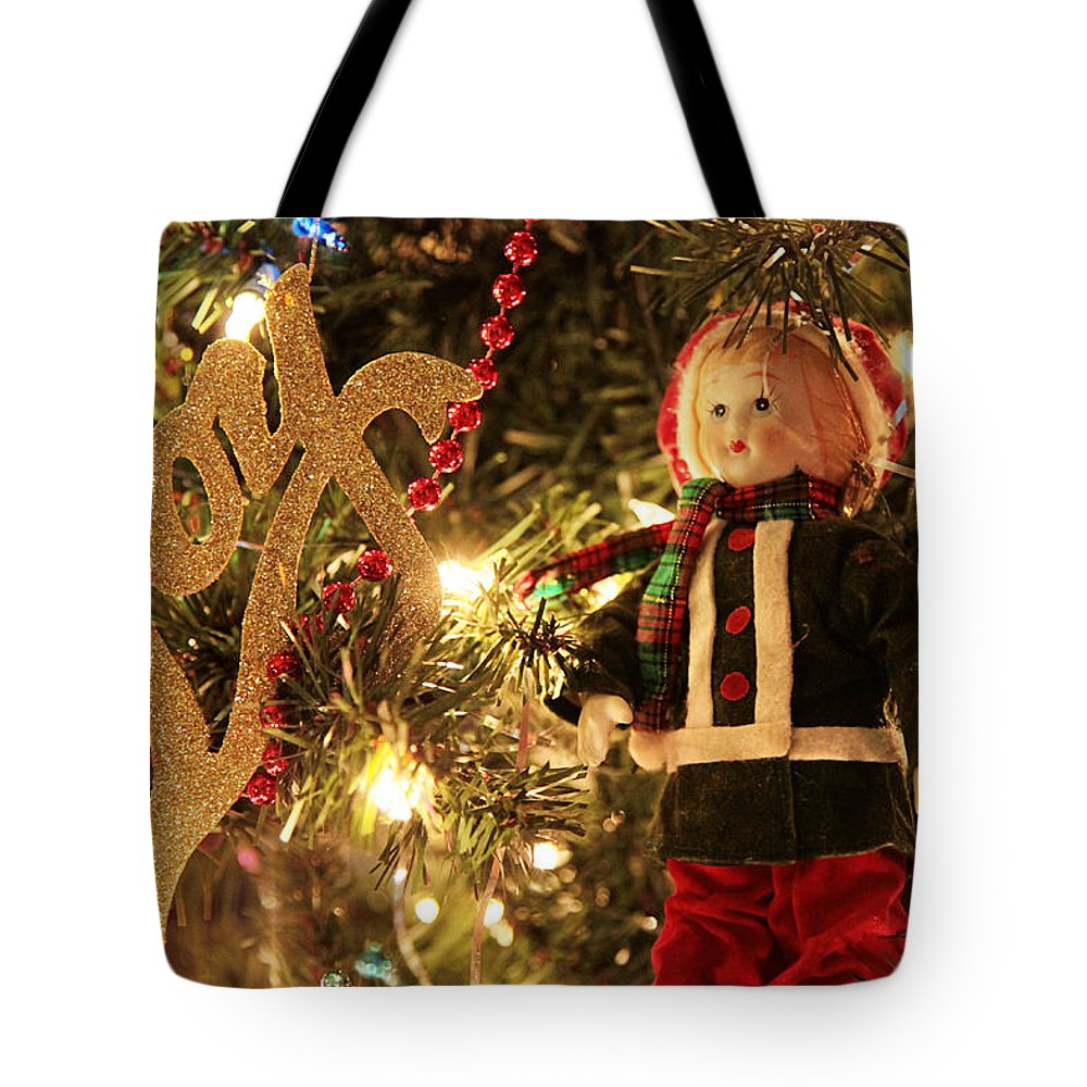 Christmas Tote Bag featuring the photograph Joy To The Season by Toni Hopper
