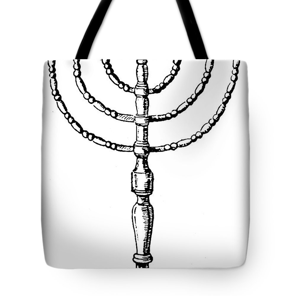 20th Century Tote Bag featuring the photograph Judaism: Menorah by Granger