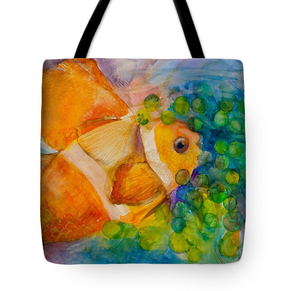 Clownfish Tote Bag featuring the painting Juicy Snack IIi by Claudia Smaletz