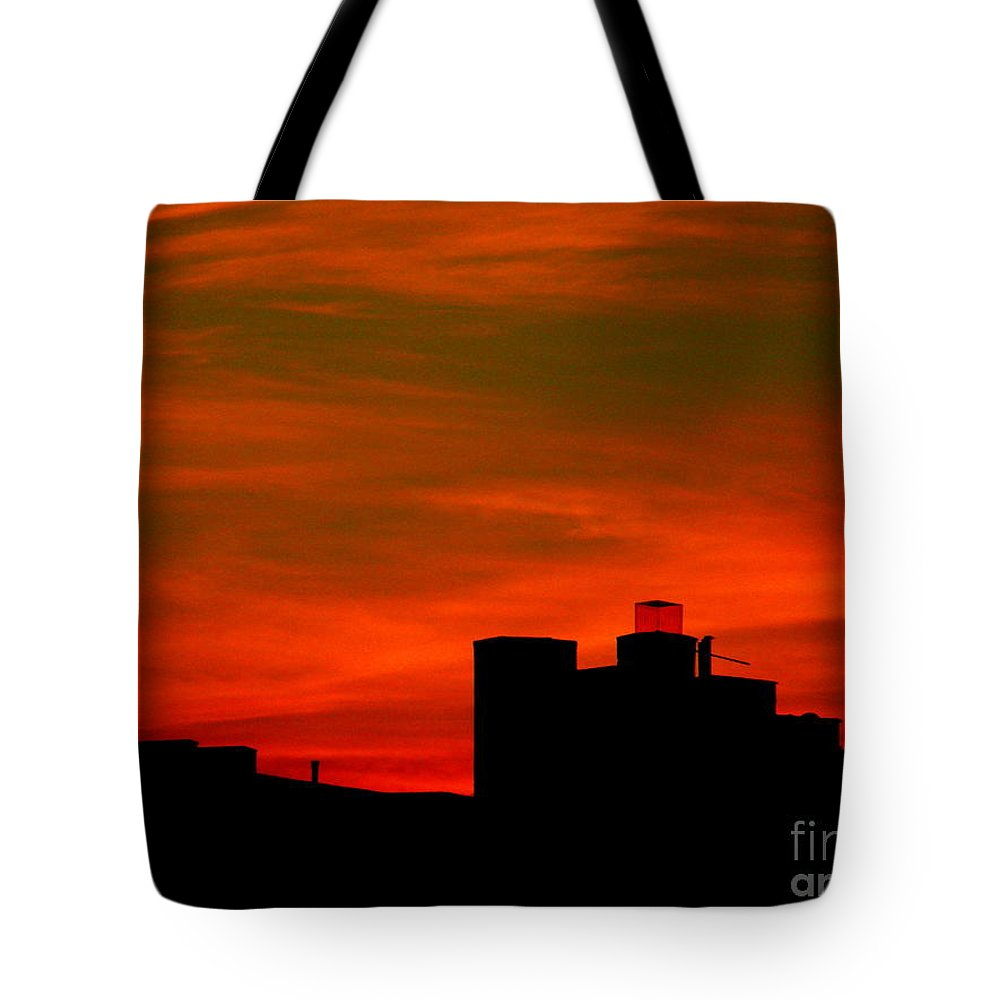 Sunset Tote Bag featuring the photograph June 2 2009 by Mark Gilman