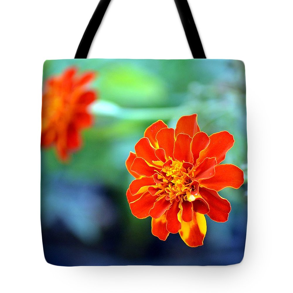 Orange Tote Bag featuring the photograph June's Bloom by Maria Urso