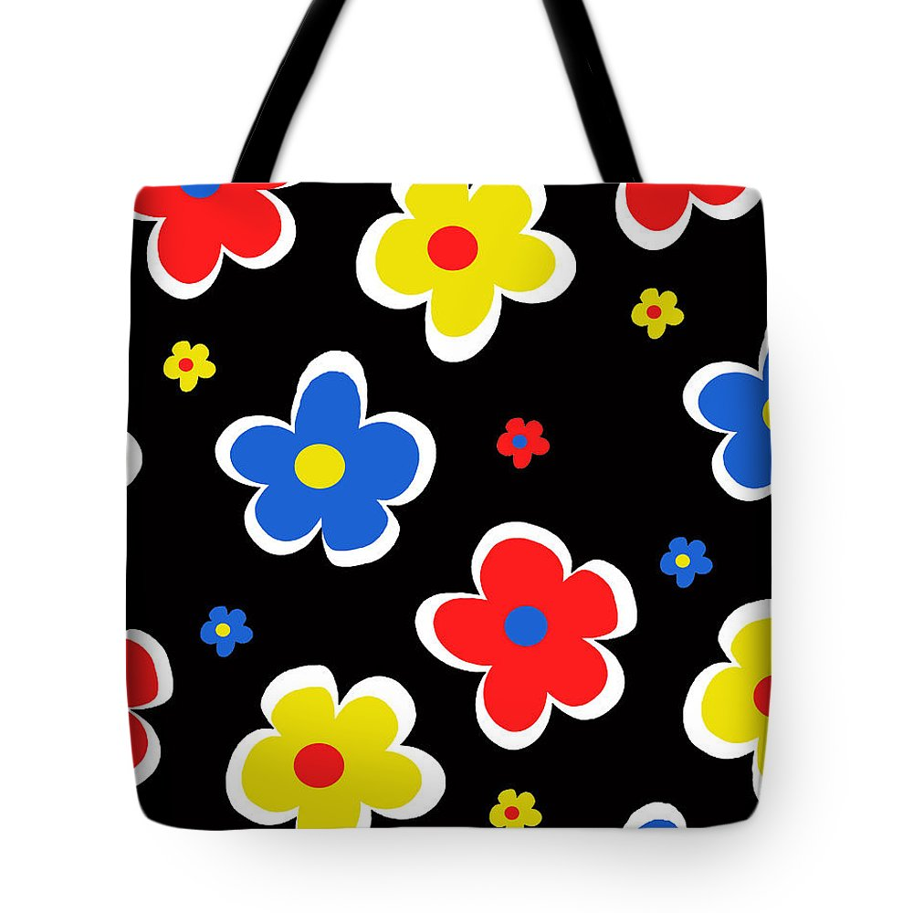 Louisa Tote Bag featuring the digital art Junior Florals by Louisa Knight