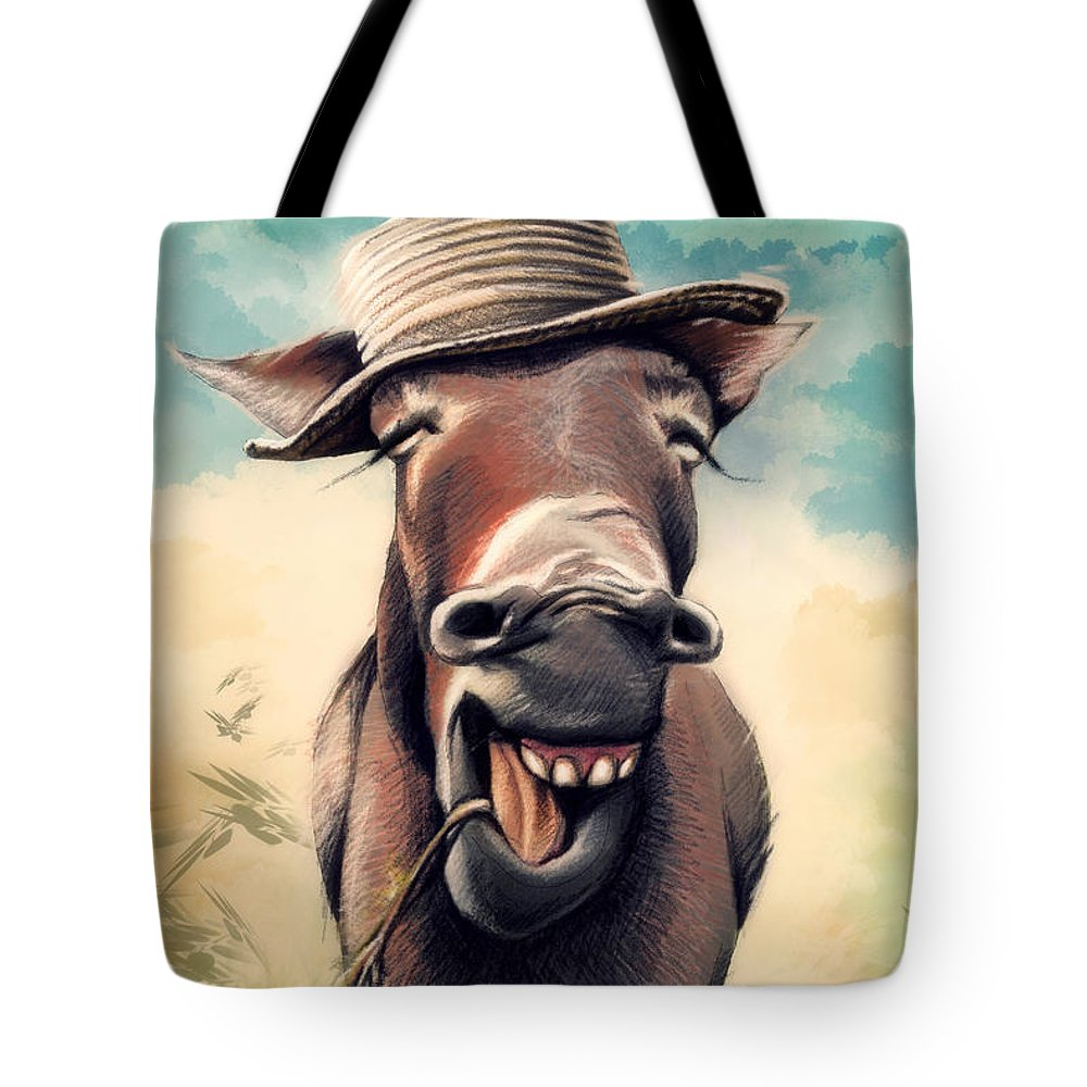 Portrait Tote Bag featuring the digital art Just Chill by Zdralea Ioana