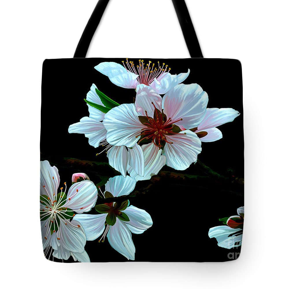 Fine Art Tote Bag featuring the painting Just Peachy by Patricia Griffin Brett