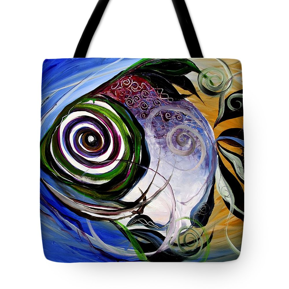 Fish Tote Bag featuring the painting J.v. Wishin Fish 3 by J Vincent Scarpace
