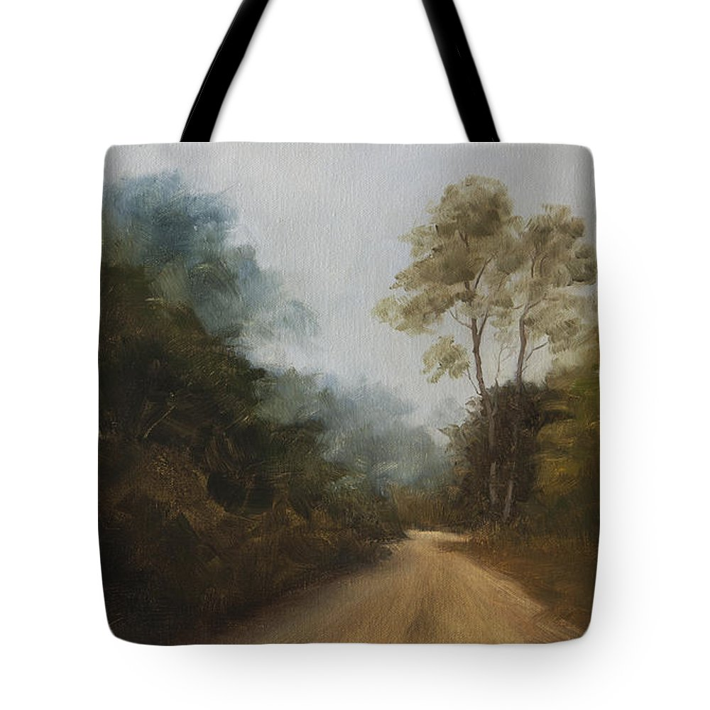 Kanha National Park Tote Bag featuring the painting Kanha Twilight by Mandar Marathe