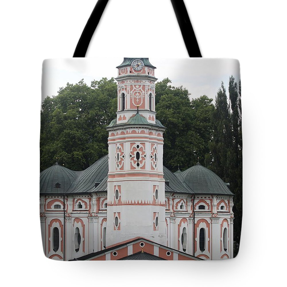 Karls Church Tote Bag featuring the photograph Karls Church by Christiane Schulze Art And Photography