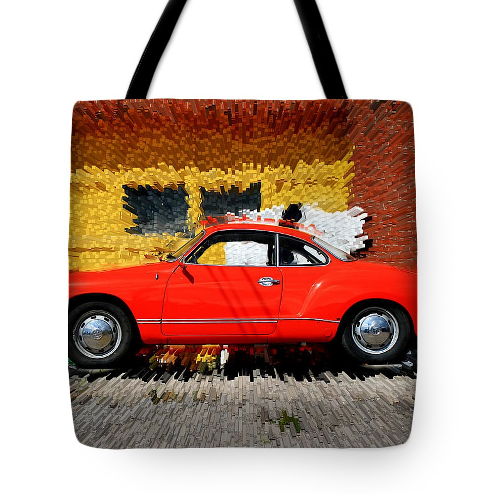 Karmann Ghia Tote Bag featuring the photograph Karmann Ghia by Andrew Fare