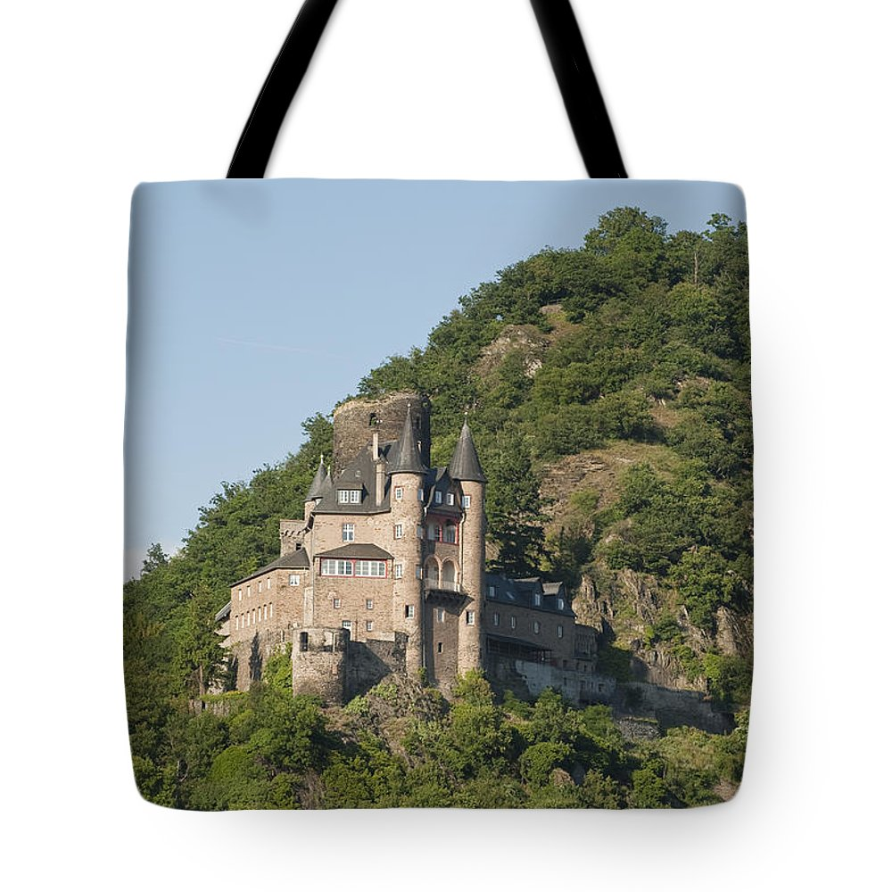 Color Image Tote Bag featuring the photograph Katz Castle On A Hillside by Greg Dale
