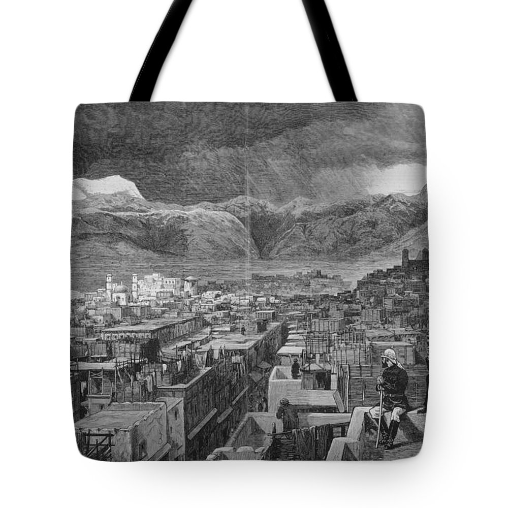 1878 Tote Bag featuring the photograph Khyber Pass by Granger