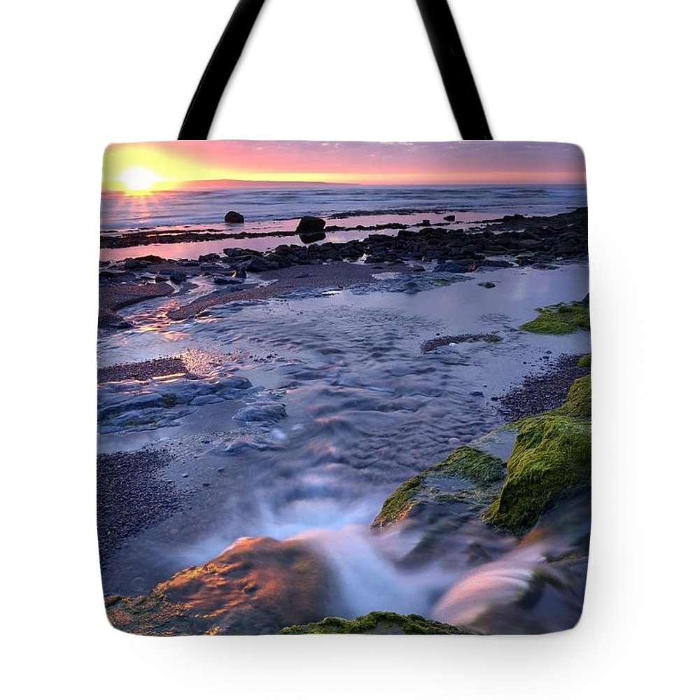 Outdoors Tote Bag featuring the photograph Killala Bay, Co Sligo, Ireland Sunset by Gareth McCormack