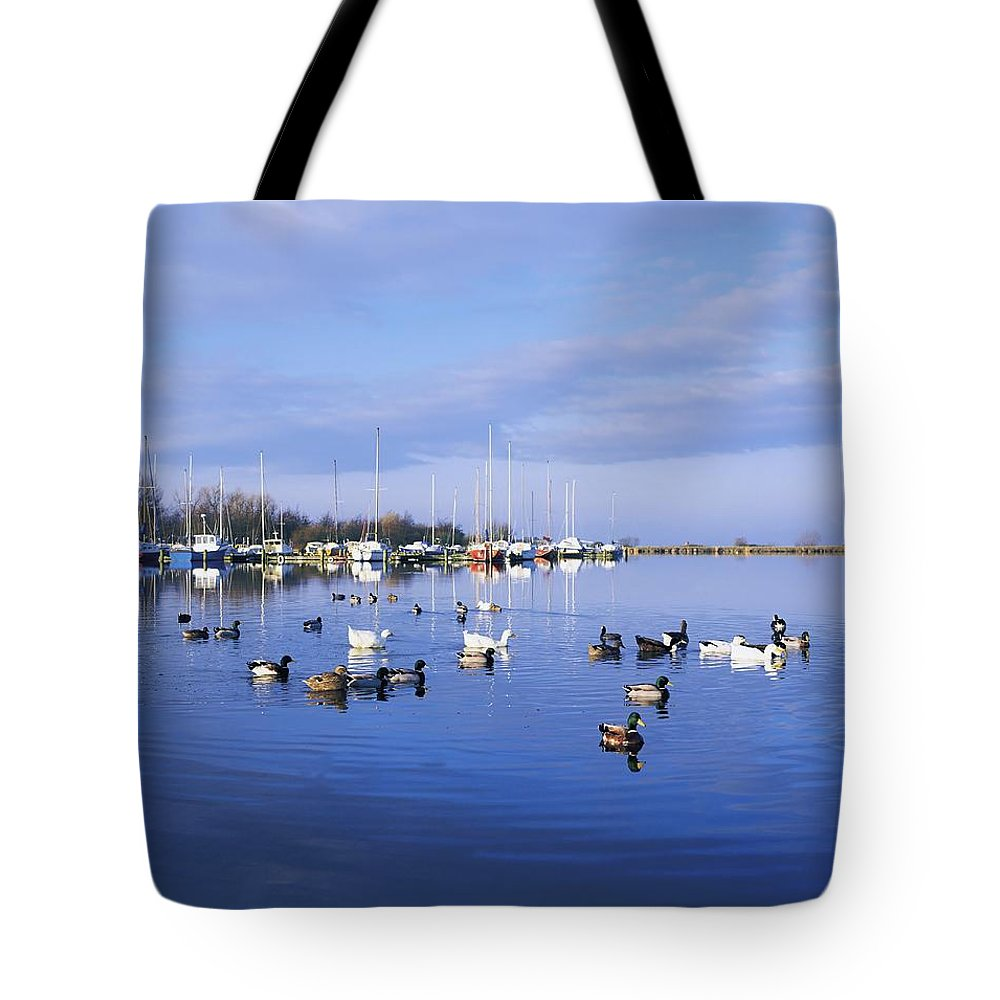 Antrim Tote Bag featuring the photograph Kinnego Marina, Lough Neagh, Co Antrim by The Irish Image Collection