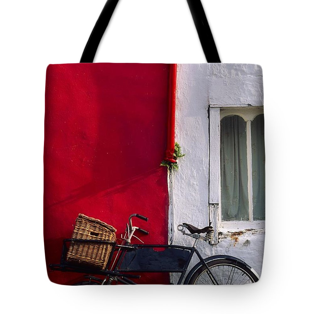 Bicycle Tote Bag featuring the photograph Kinsale, Co Cork, Ireland Bicycle by The Irish Image Collection