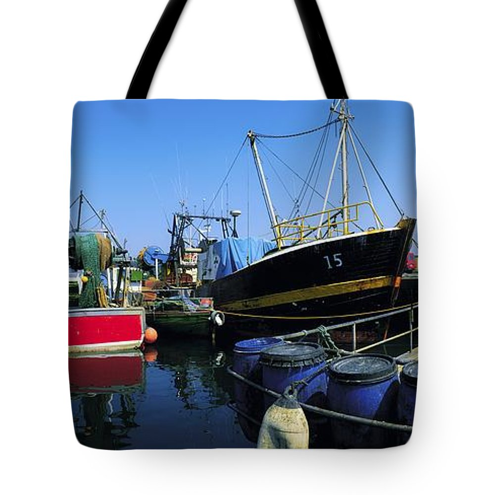 Barrell Tote Bag featuring the photograph Kinsale, Co Cork, Ireland Fishing Boats by The Irish Image Collection