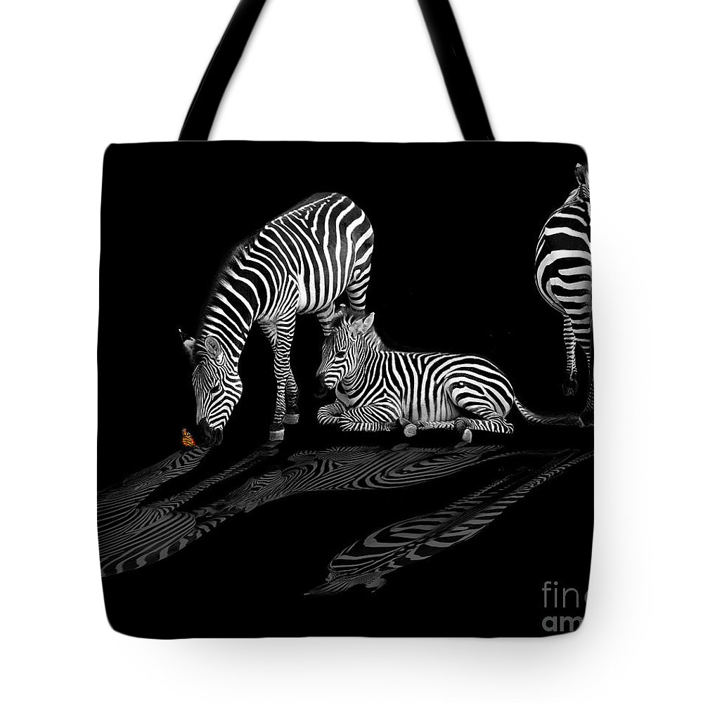 Black Tote Bag featuring the photograph Kiss Of Nature by Peggy Starks