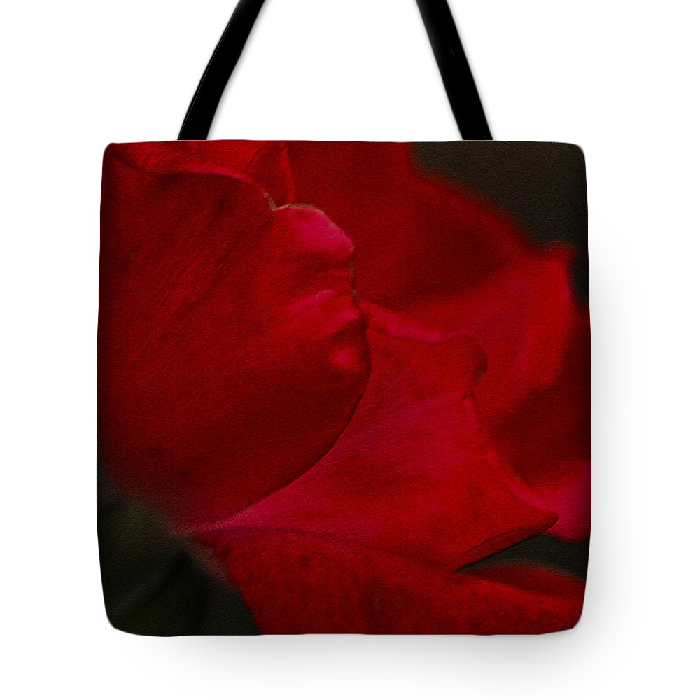 Rose Tote Bag featuring the photograph Kissed by Kim Henderson