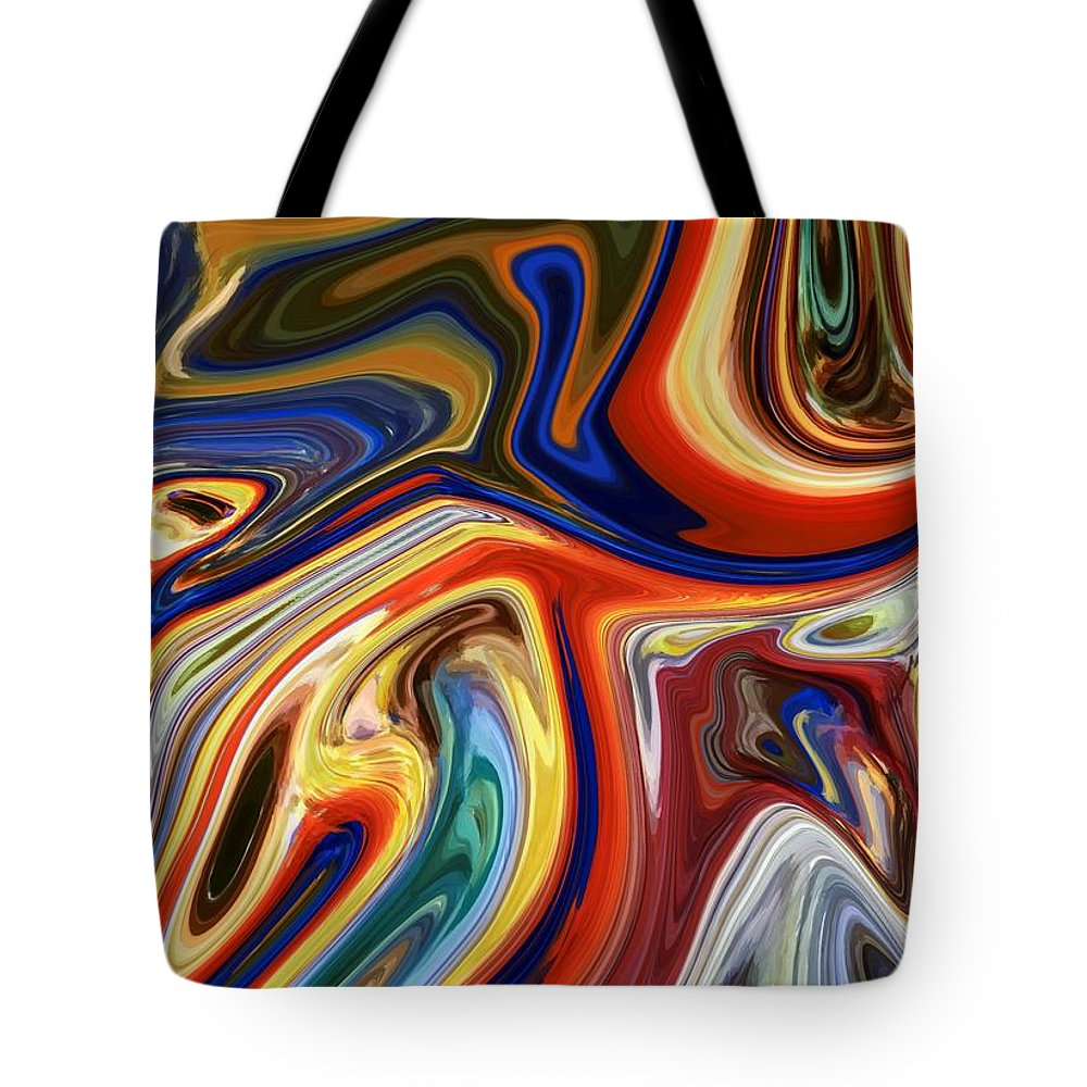 Koi Tote Bag featuring the mixed media Koi by Chris Butler