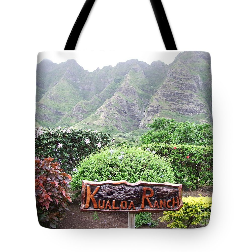 Hawaii Tote Bag featuring the photograph Kualoa Ranch by Mary Deal
