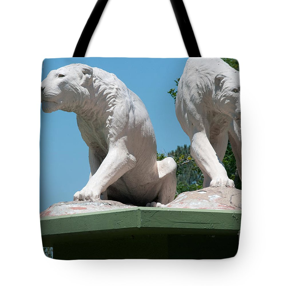 California Tote Bag featuring the digital art La Brea Tar Pits by Carol Ailles