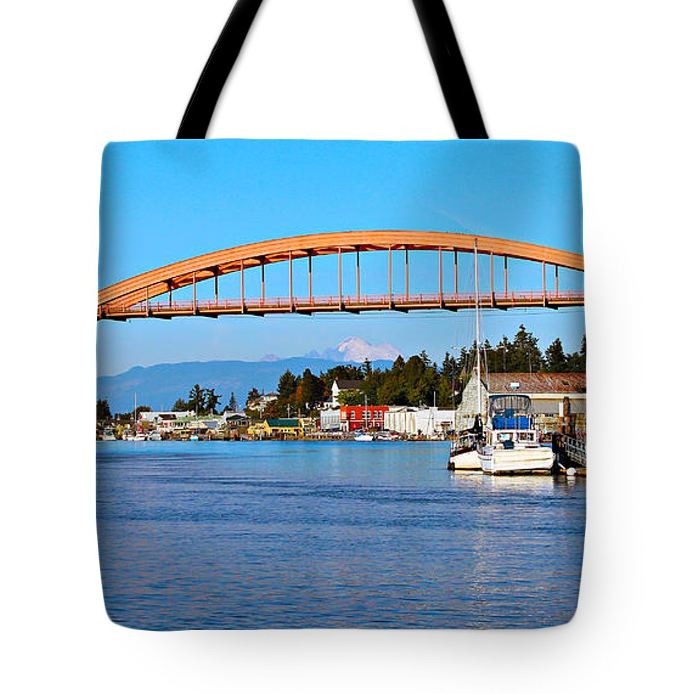 Arch Tote Bag featuring the photograph La Conner by Paul Fell