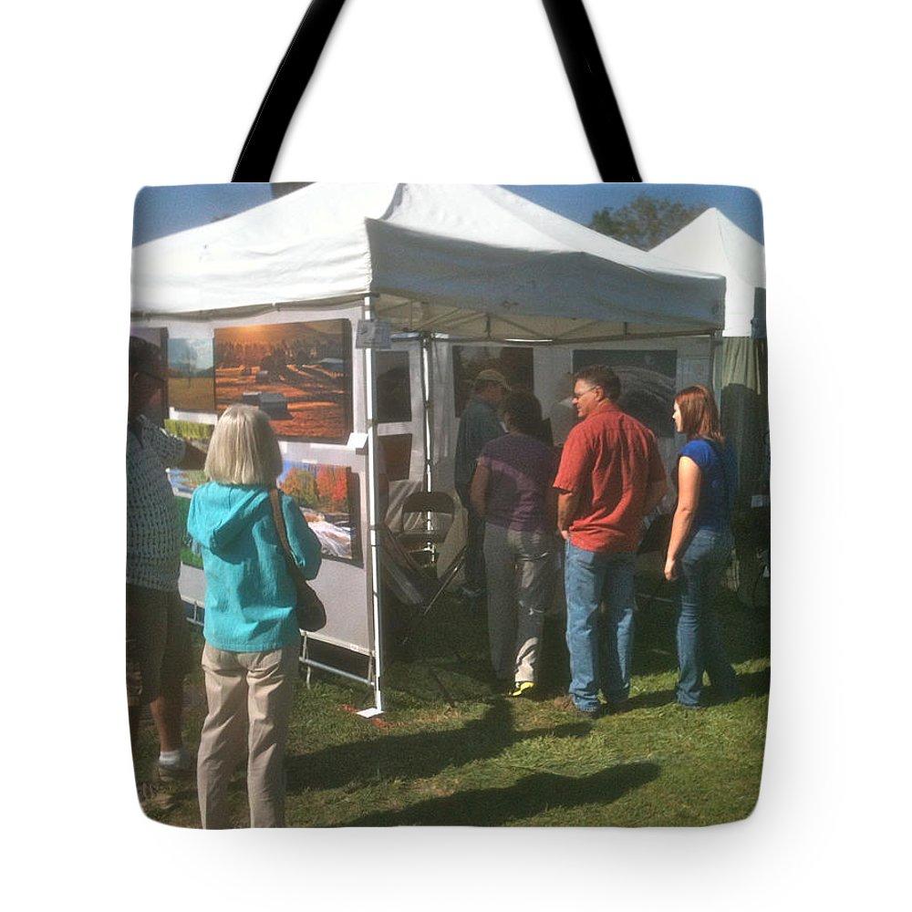 Art Fair Tote Bag featuring the photograph Lac St Clair Artfair 2012 by Michael Peychich