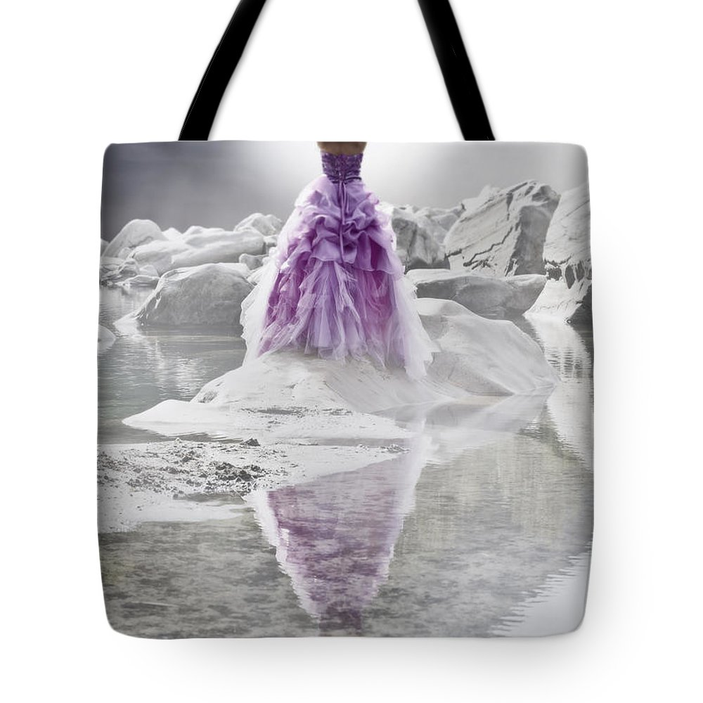 Female Tote Bag featuring the photograph Lady On The Rocks by Joana Kruse