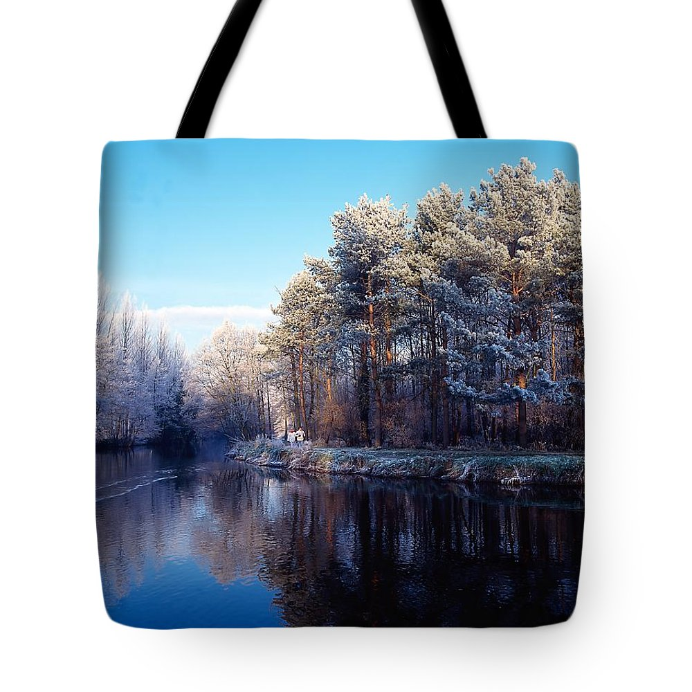 Beauty In Nature Tote Bag featuring the photograph Lagan Meadows During Winter, Belfast by The Irish Image Collection