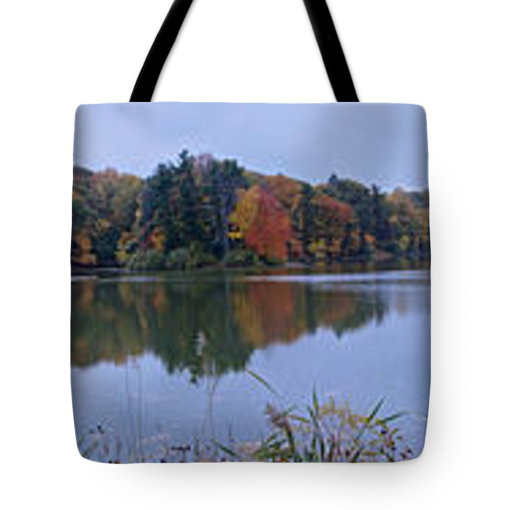 Lake Eastman Tote Bag featuring the photograph Lake Eastman by William Norton