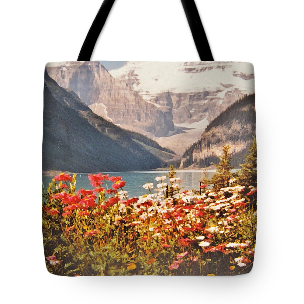 Mountains Tote Bag featuring the photograph Lake Louise Alberta by Ian MacDonald