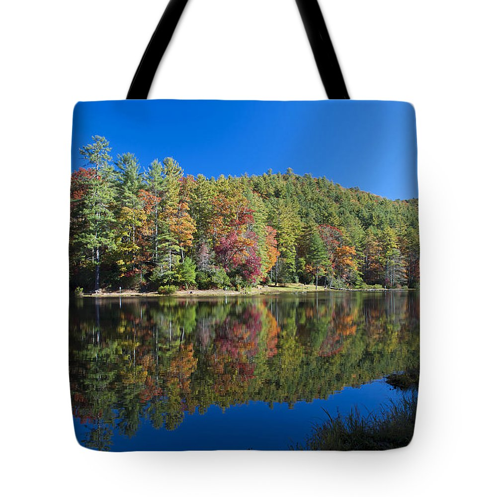 Scenery Tote Bag featuring the photograph Lake Reflections by Kenneth Albin