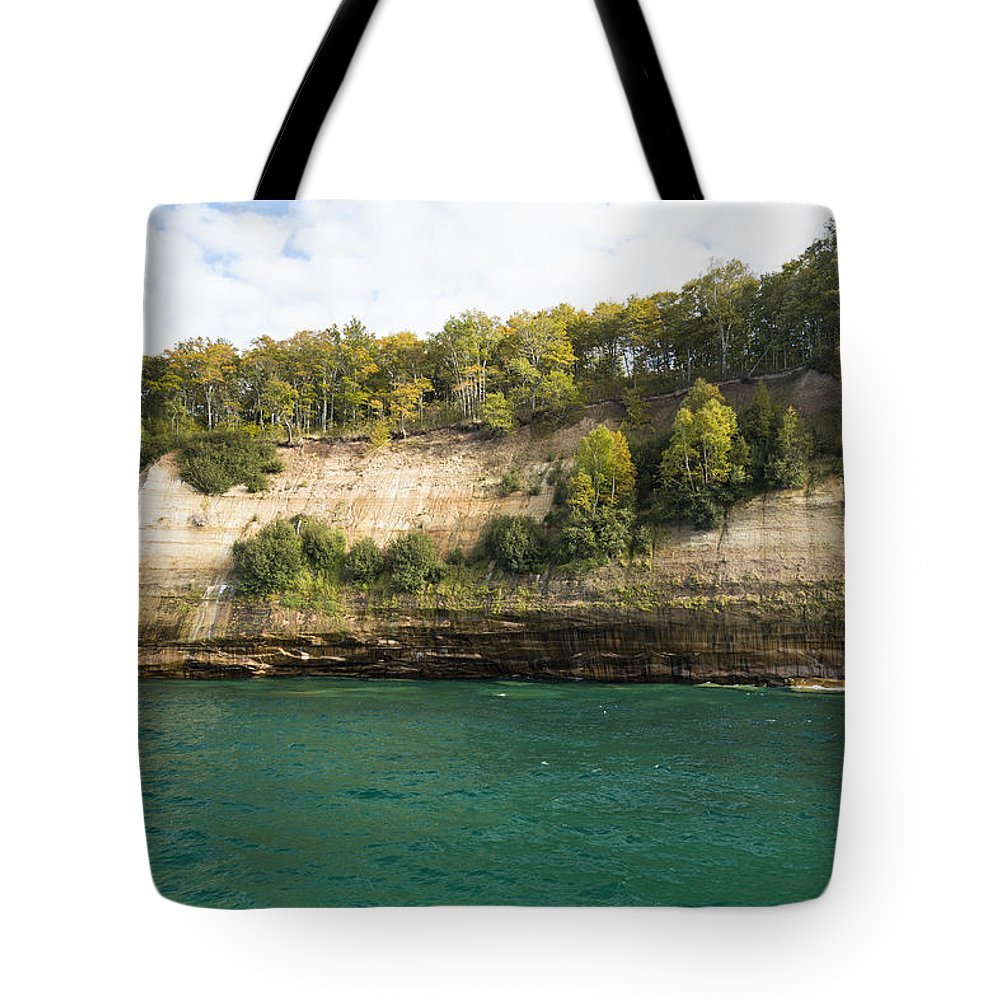 Great Tote Bag featuring the photograph Lake Superior Pictured Rocks 11 by John Brueske
