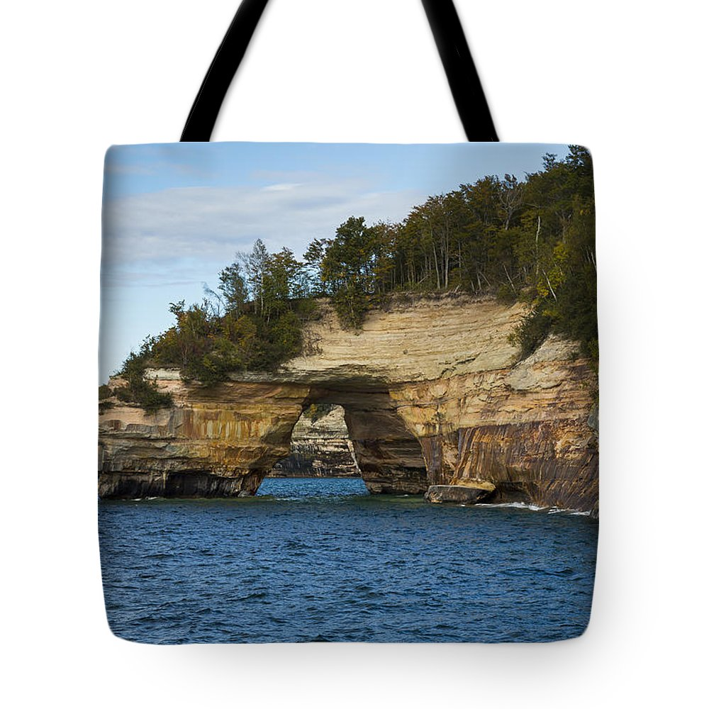 Great Tote Bag featuring the photograph Lake Superior Pictured Rocks 17 by John Brueske