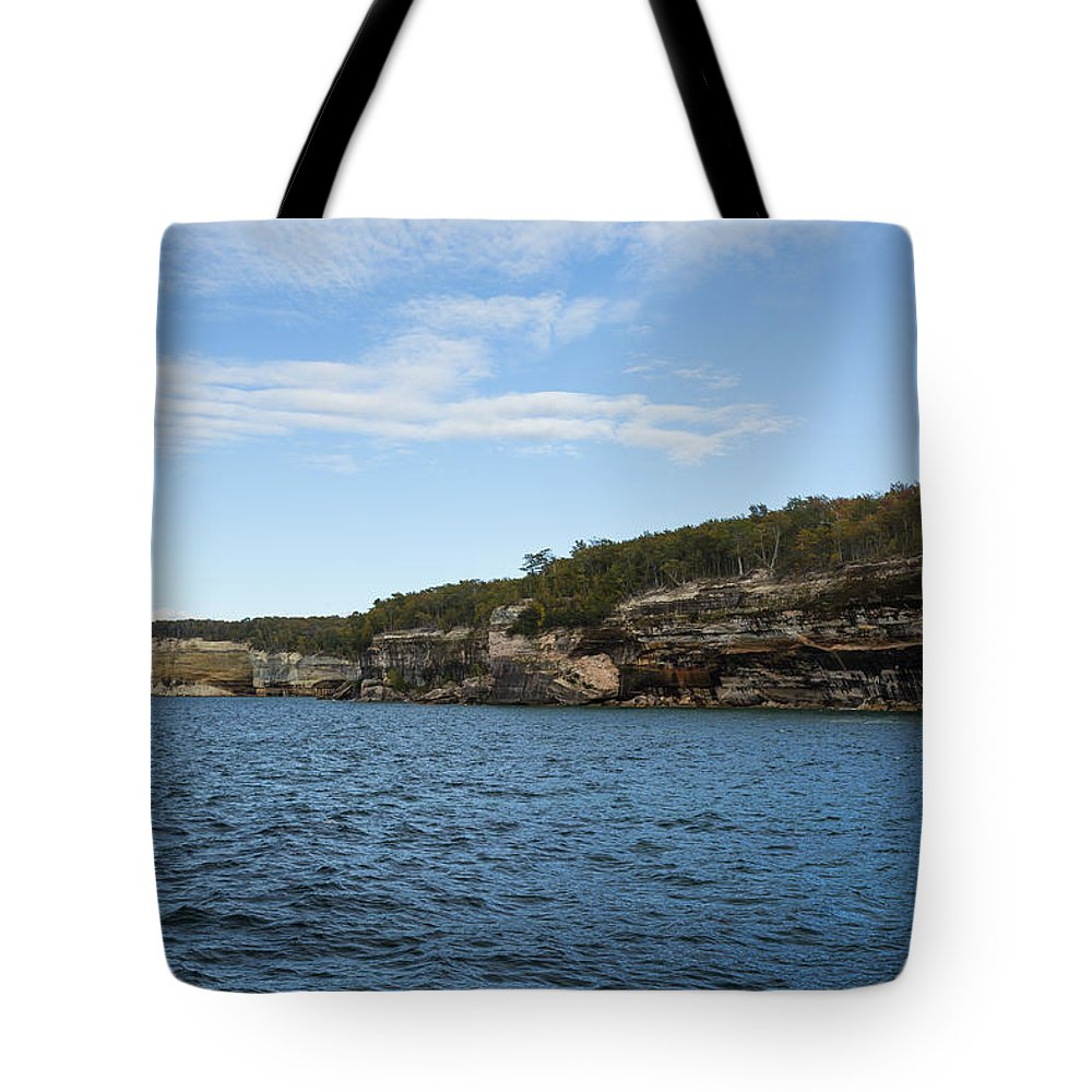 Great Tote Bag featuring the photograph Lake Superior Pictured Rocks 22 by John Brueske