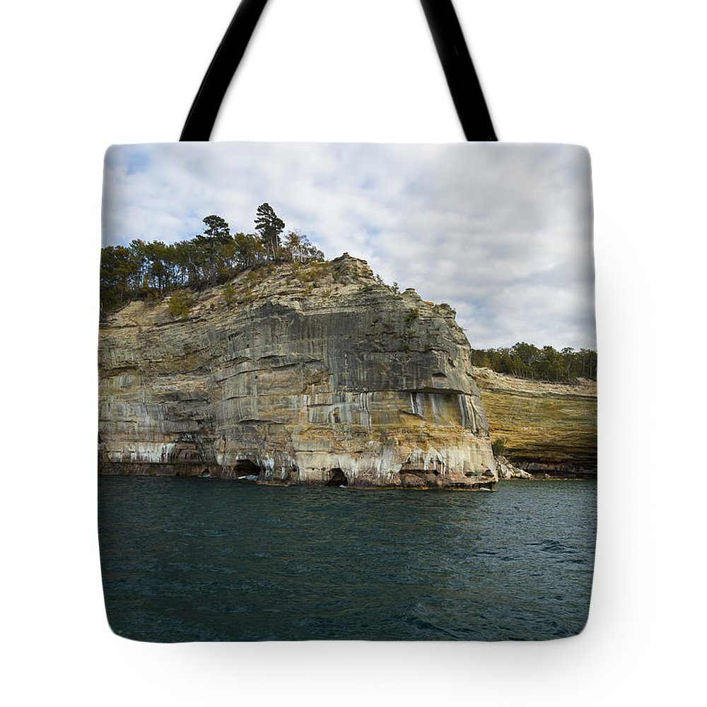 Great Tote Bag featuring the photograph Lake Superior Pictured Rocks 27 by John Brueske