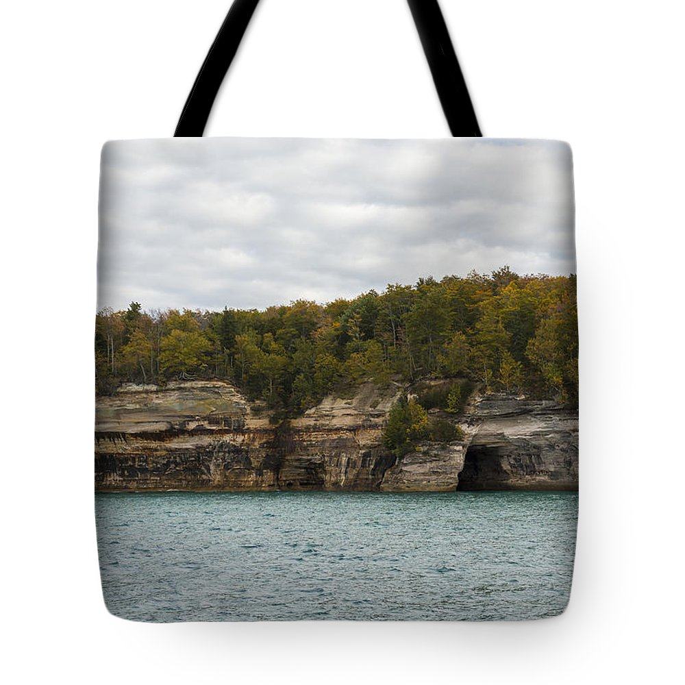 Great Tote Bag featuring the photograph Lake Superior Pictured Rocks 45 by John Brueske