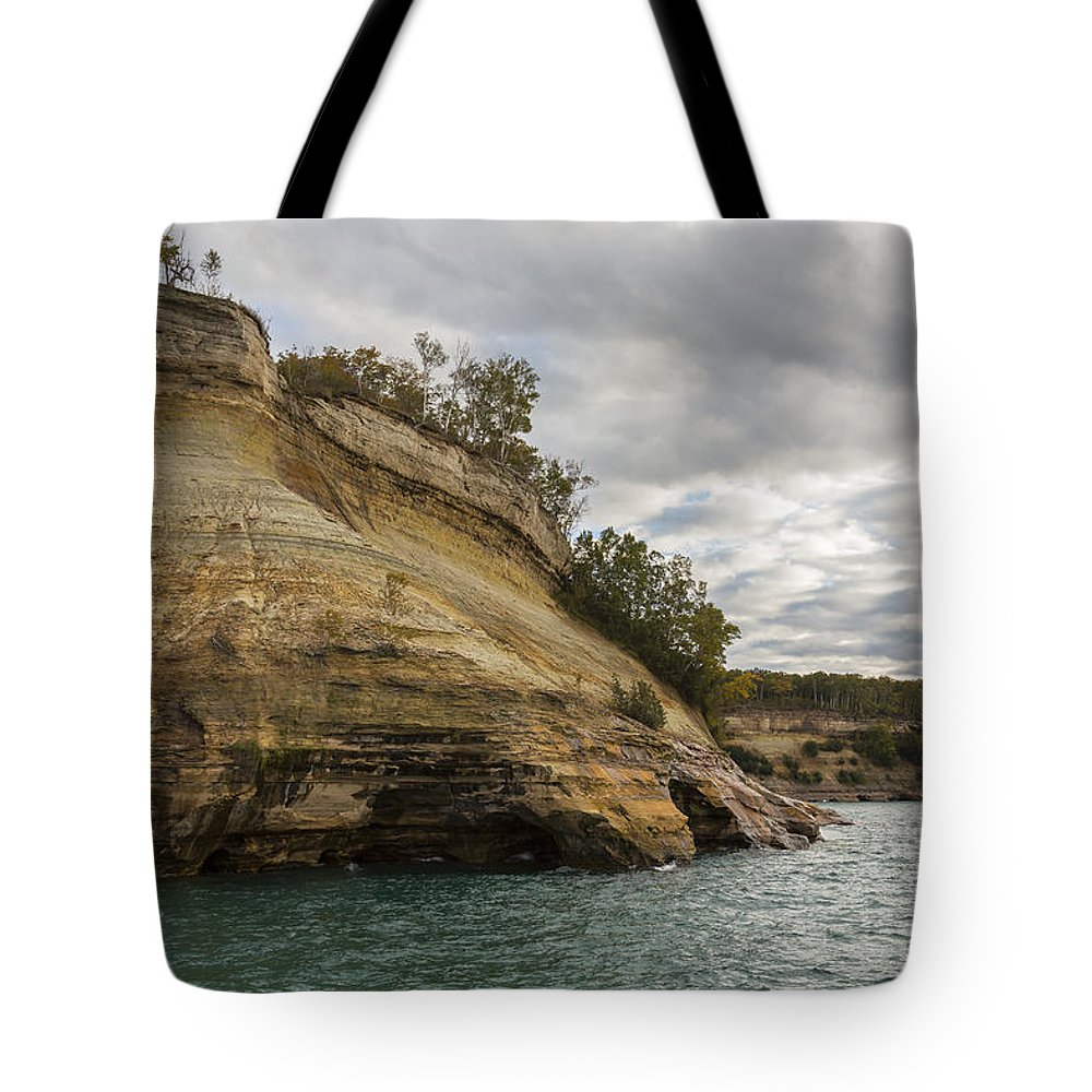 Great Tote Bag featuring the photograph Lake Superior Pictured Rocks 53 by John Brueske
