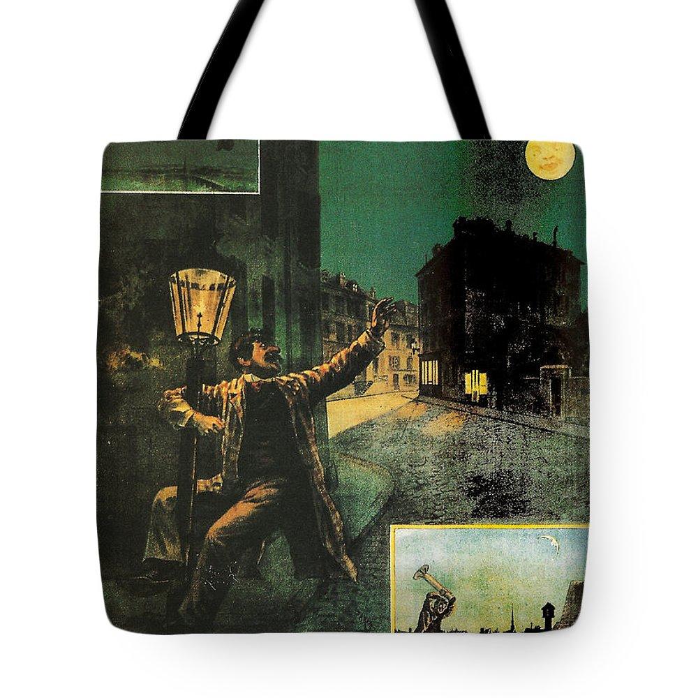L'amant De La Lune Tote Bag featuring the painting L'amant De La Lune by Georgia Fowler