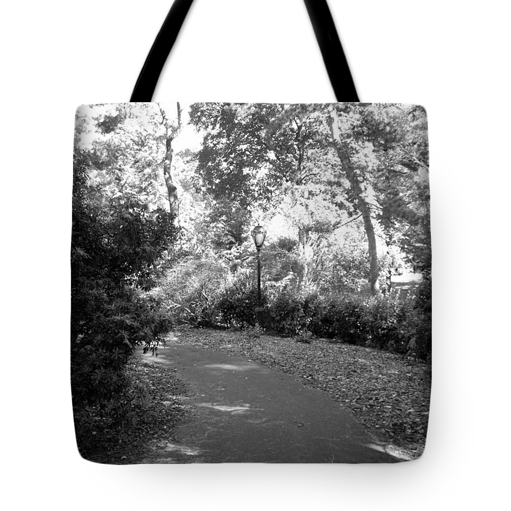 Central Park Tote Bag featuring the photograph Lamps Of Central Park by Rob Hans