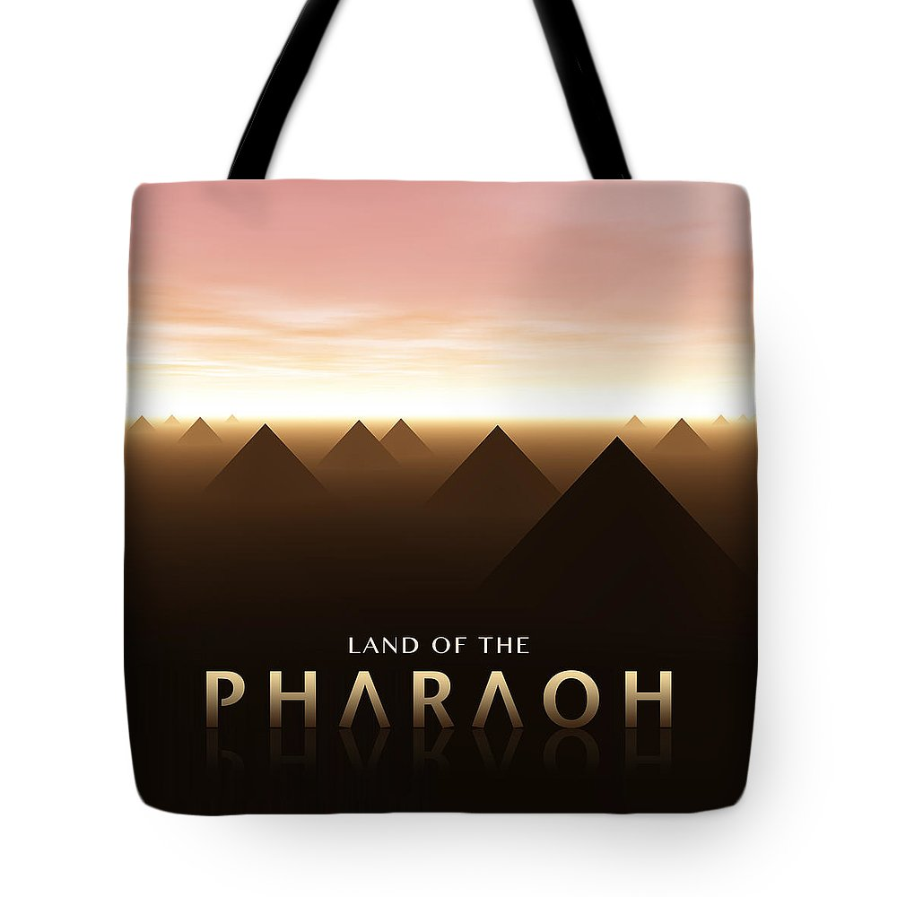 Digital Art Tote Bag featuring the digital art Land Of The Pharaoh by Phil Perkins