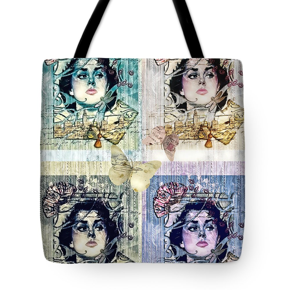 Languissant Tote Bag featuring the mixed media Languissant by Mo T