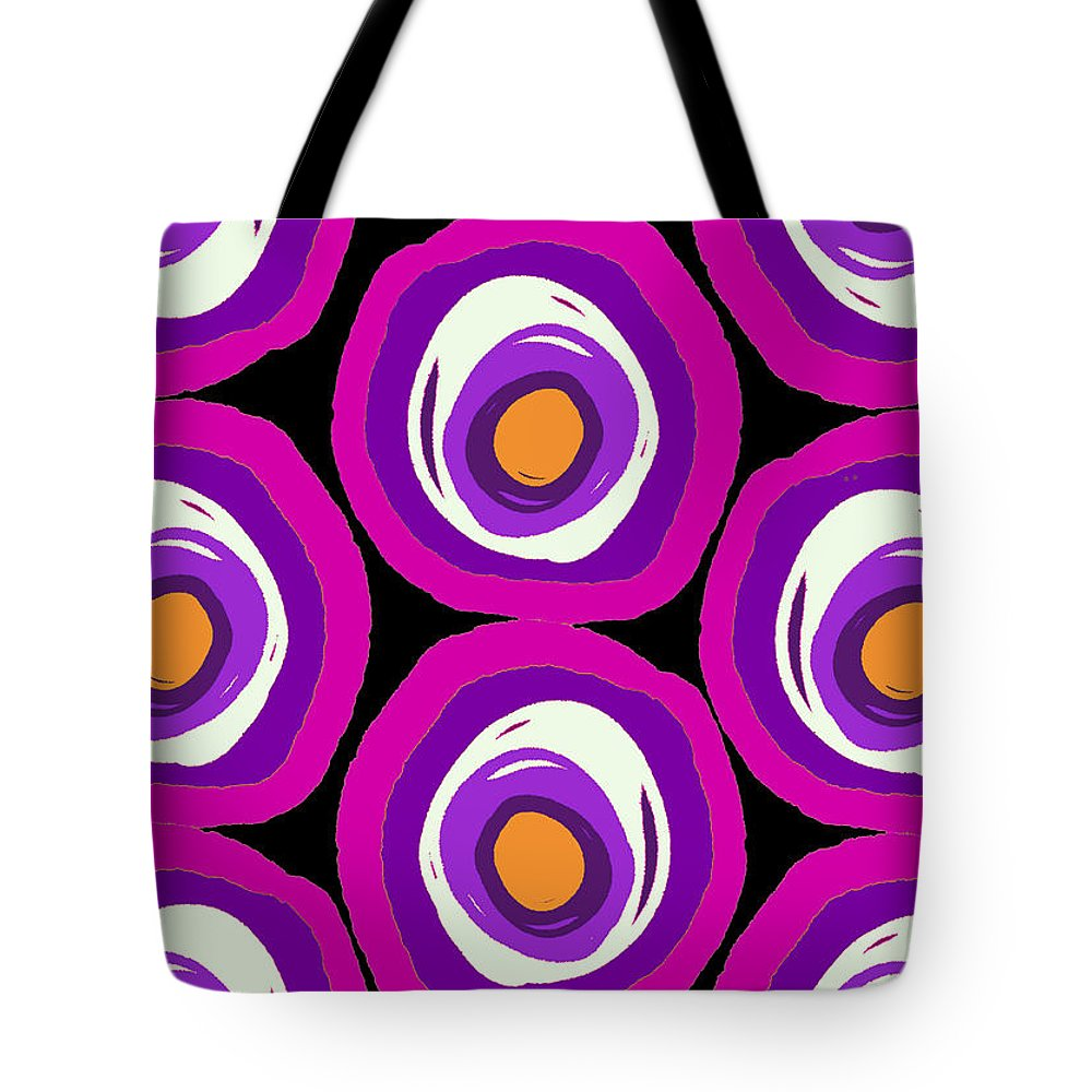 Large Scale Spots (digital) By Louisa Knight (contemporary Artist) Tote Bag featuring the digital art Large Scale Spots by Louisa Knight