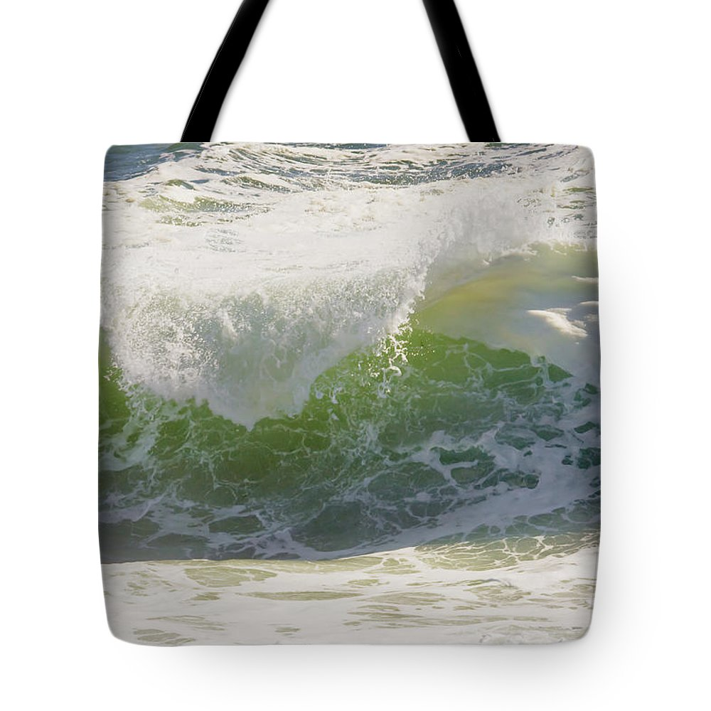 Maine Tote Bag featuring the photograph Large Waves On The Coast Of Maine by Keith Webber Jr