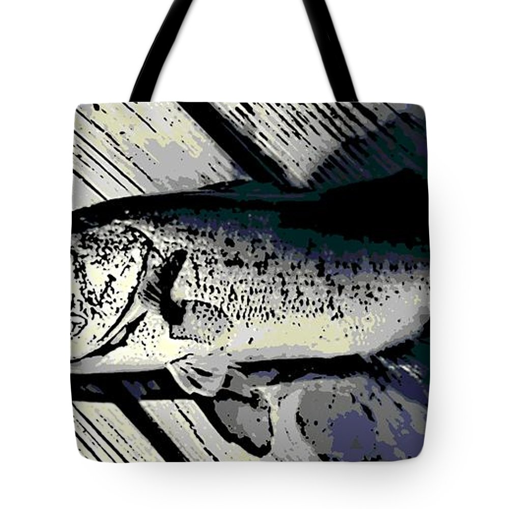 Largemouth Tote Bag featuring the photograph Largemouth Bass by George Pedro